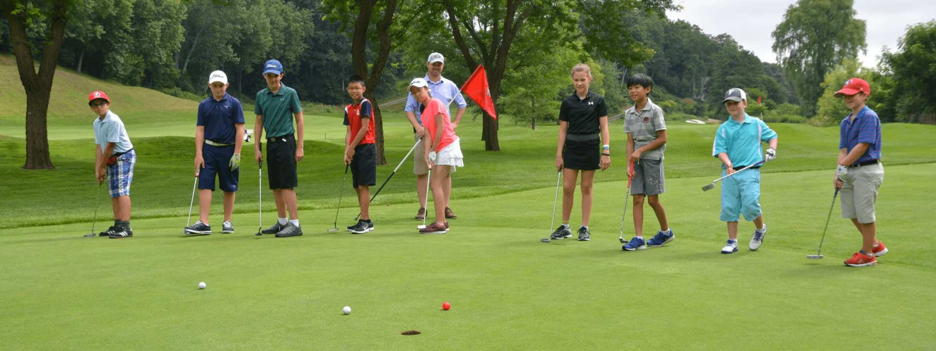 Kids Playing Golf At The Thornhill Club